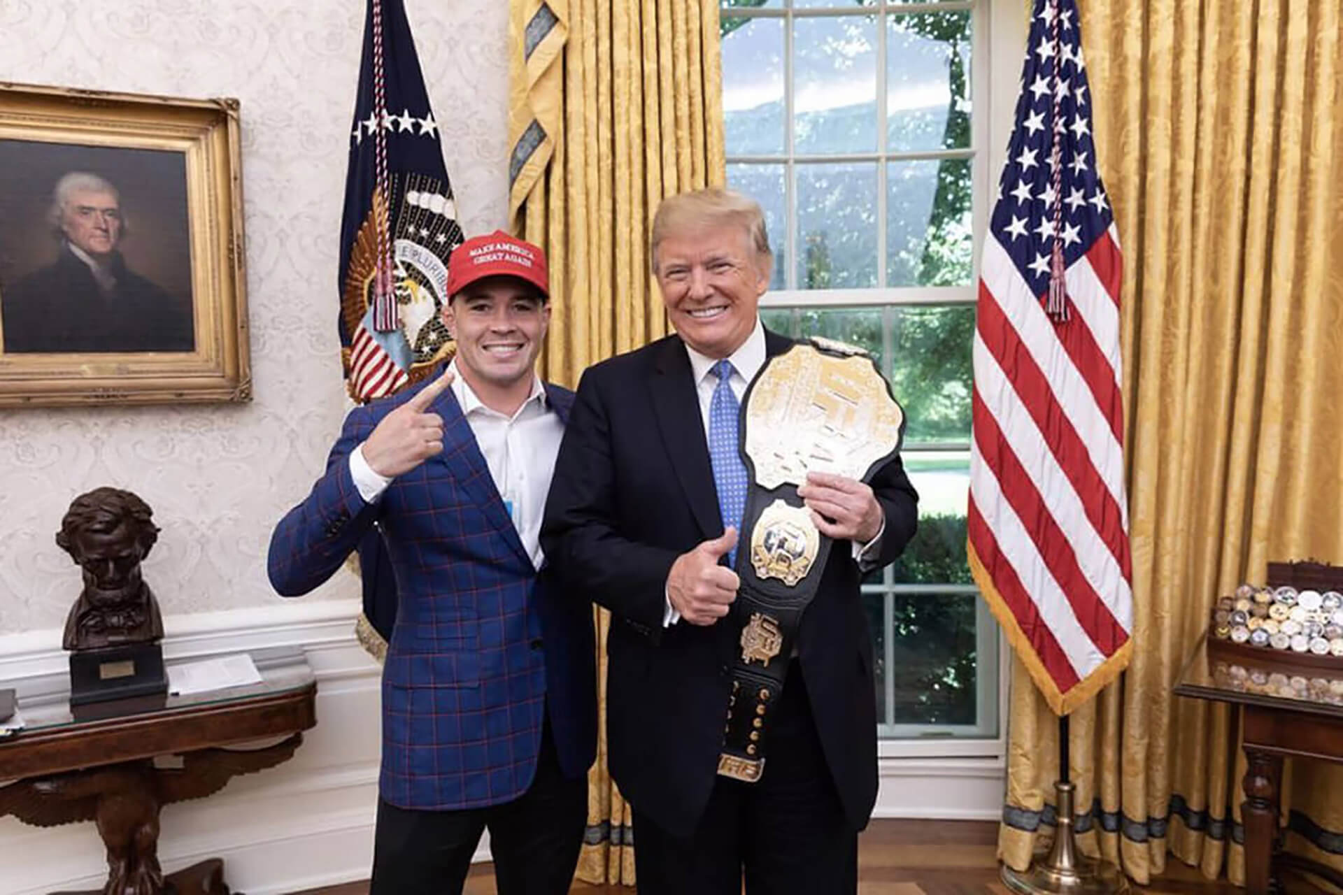 Colby Covington fighter Trump
